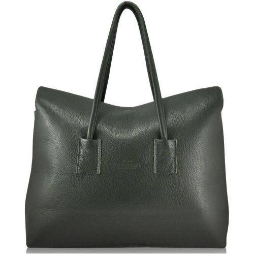 Женская кожаная сумка PoolParty sense-khaki зеленая