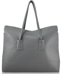 Женская кожаная сумка sense-grey серая