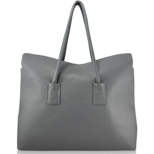 Женская кожаная сумка poolparty-sense-grey серая