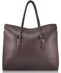 Женская кожаная сумка PoolParty Leather Sense Tote темно-фиолетовая