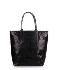 Женская кожаная сумка poolparty-adore-snake-black черная