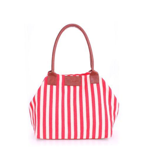 Женская сумка PoolParty Navy красная с белым