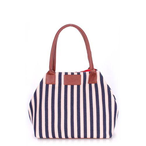 Женская сумка PoolParty Navy синяя с белым