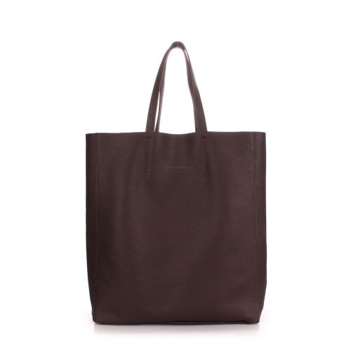 Женская кожаная сумка poolparty-city-brown коричневая
