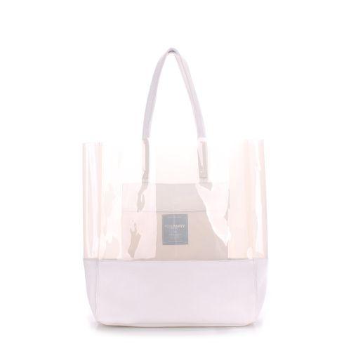 Женская кожаная сумка poolparty-city-carrie-white белая