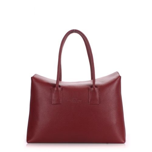 Женская кожаная сумка poolparty-sense-marsala бордовая