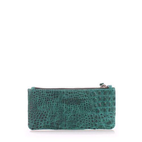Кожаный кошелек Poolparty moneykeeper crocodile зеленый
