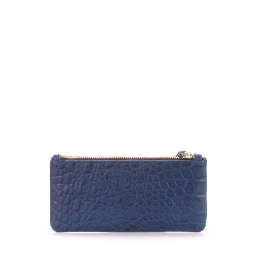 Кожаный кошелек Poolparty moneykeeper cayman синий
