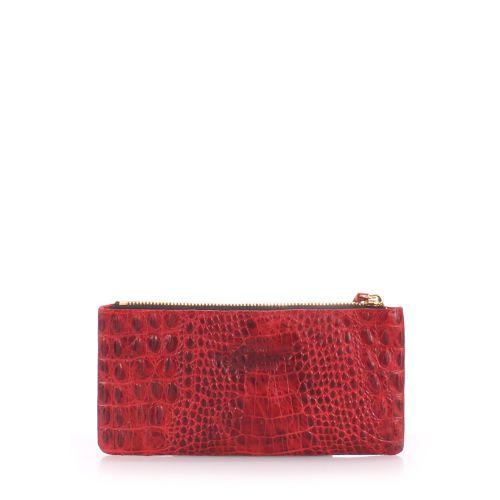 Кожаный кошелек Poolparty moneykeeper crocodile красный
