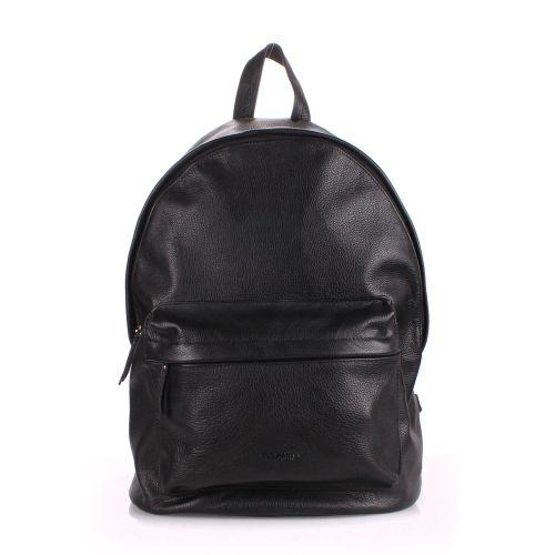 Кожаный рюкзак PoolParty backpack-leather-black
