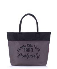 Женская сумка Poolparty poolparty-paradise-grey-black