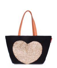 Женская сумка Poolparty pool-lovetote-black