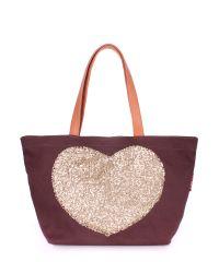 Женская сумка Poolparty pool-lovetote-brown