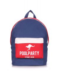 Рюкзак молодежный PoolParty backpack-darkblue-red-white