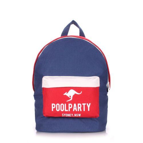 Рюкзак молодежный PoolParty backpack-darkblue-red-white