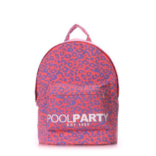 Рюкзак молодежный PoolParty backpack-leo-pink