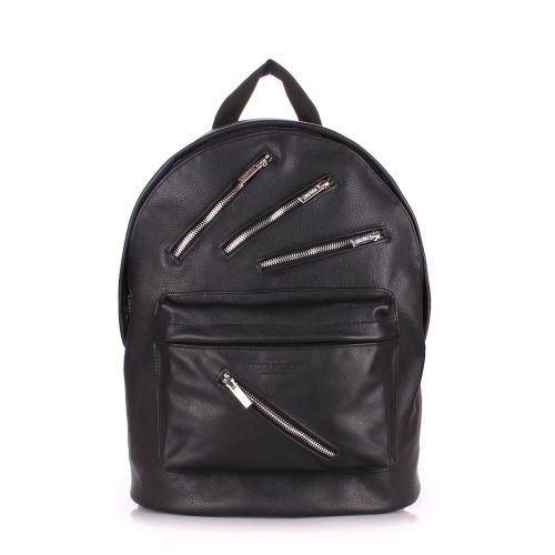 Кожаный рюкзак PoolParty backpack-rockstar-black