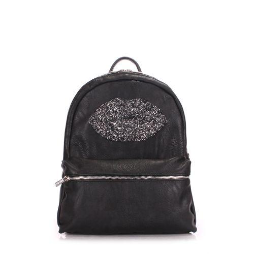 Рюкзак PoolParty mini-bckpck-lips-black