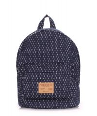 Рюкзак молодежный PoolParty backpack-anchor-darkblue