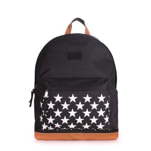 Рюкзак молодежный PoolParty backpack-stars-black