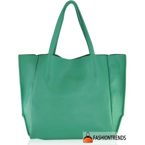 Женская кожаная сумка poolparty-poolparty-soho-mint зеленая
