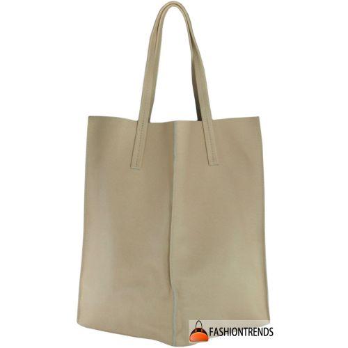 Женская кожаная сумка Poolparty Safyano Milan Tote персиковая