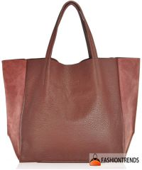 Женская кожаная сумка POOLPARTY soho-marsala-velour вишневая