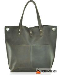 Женская кожаная сумка Babak Tote 857251 коричневая