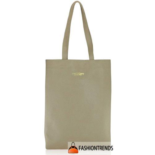Женская кожаная сумка POOLPARTY daily-tote-safyan-peach персиковая