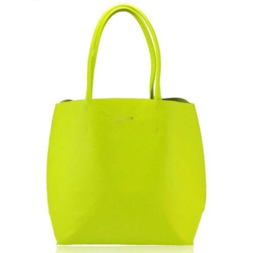 Женская кожаная сумка Poolparty pearl-yellow желтая