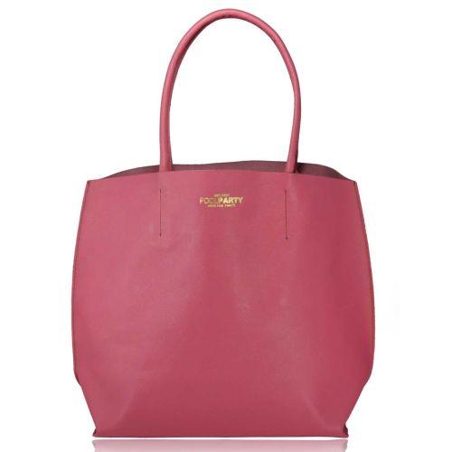 Женская кожаная сумка Poolparty pearl-pink розовая