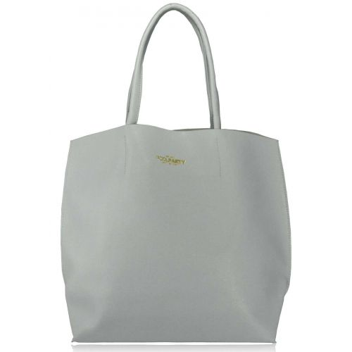 Женская кожаная сумка Poolparty pearl-lightblue голубая