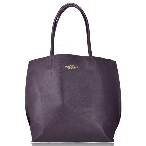 Женская кожаная сумка Poolparty pearl-violet фиолетовая