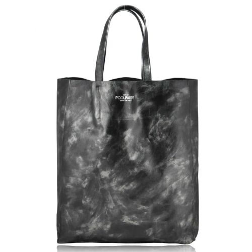 Женская кожаная сумка Poolparty City Leather City Bag черная