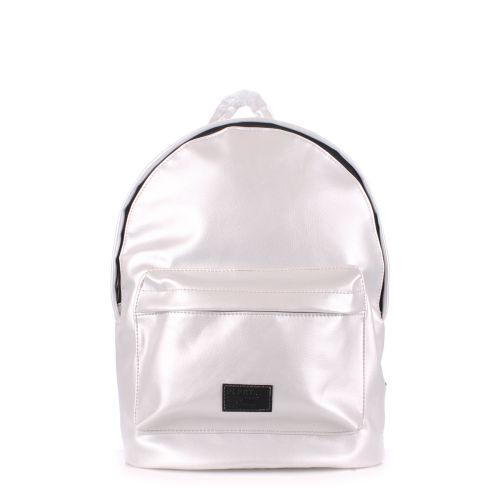 Рюкзак женский POOLPARTY backpack-pu-lightsilver