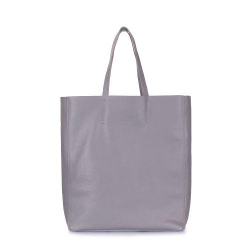 e8d9bebc31f4 Женская кожаная сумка poolparty-city-grey серая купить в киеве недорого