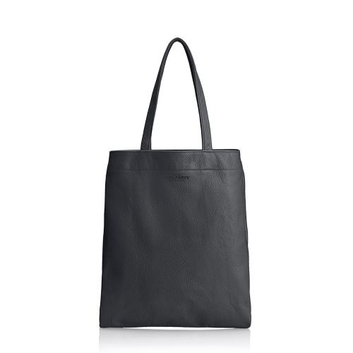 Женская кожаная сумка POOLPARTY daily-tote-black черная