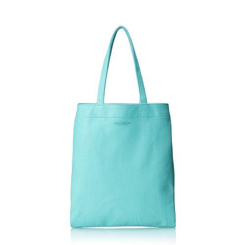 Женская кожаная сумка POOLPARTY daily-tote-blue голубая