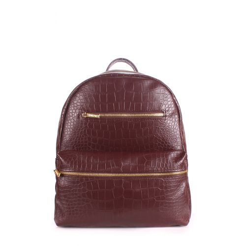 Рюкзак женский POOLPARTY mini-bckpck-croco-brown
