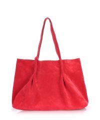 Женская замшевая сумка Poolparty sugar-velour-red
