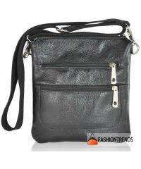 Мужская кожаная сумка Zippy черная