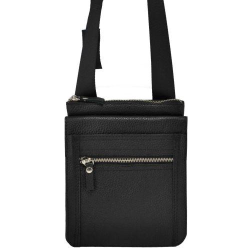 Мужская кожаная сумка органайзер черная