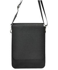 Мужская кожаная сумка классическая черная