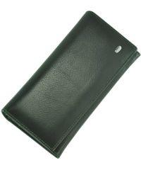 Кожаный кошелек ST634 зеленый