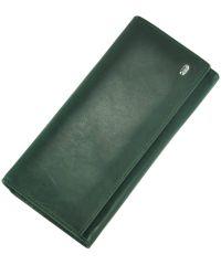 Кожаный кошелек ST150 зеленый