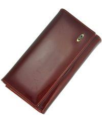 Кожаный кошелек BC46 красный