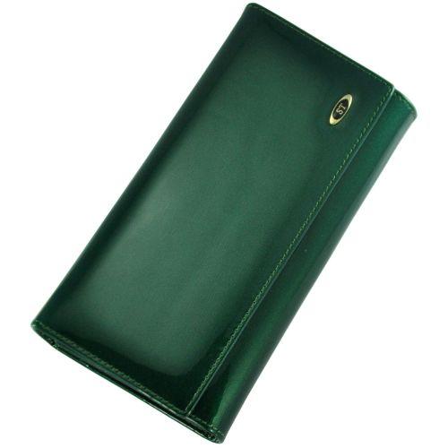 Кожаный кошелек BC34 зеленый