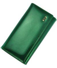 Кожаный кошелек BC46 зеленый