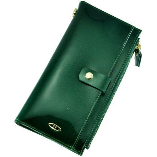 Кожаный кошелек BC420 зеленый