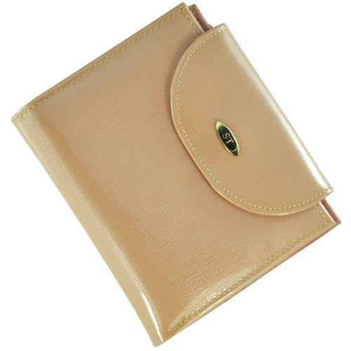 Кожаный кошелек BC410 пудровый